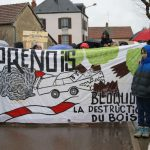 Manifestation contre l'extension du circuit Prenois Dijon