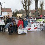 Manifestation contre l'extension du circuit Prenois Dijon